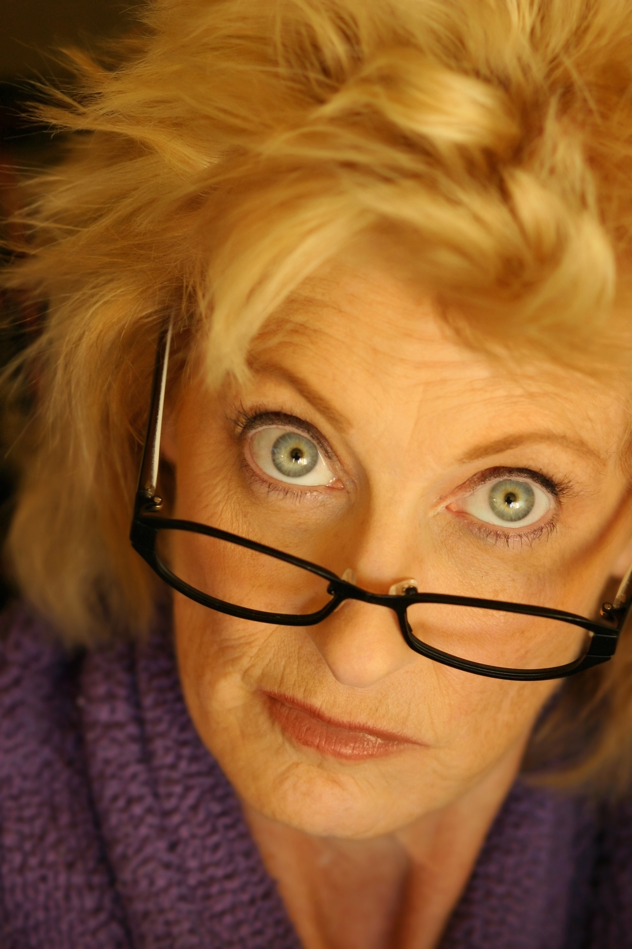 Older woman in glasses